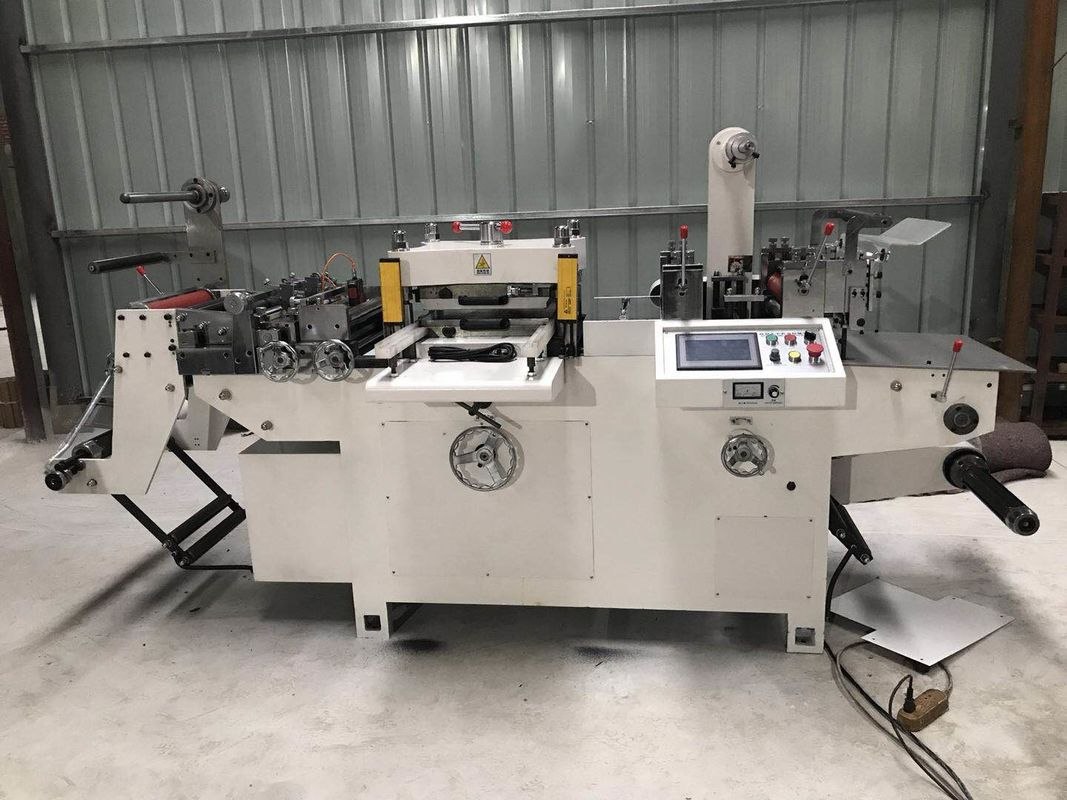 Automatic Label Die Cut Sticker Machine 2.2KW Power With Sheeting Function